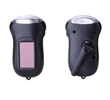 Outdoor lighting solar charging led flashlight energy saving mini portable hand-cranked power generation