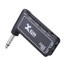 Xvive GA4 Metal Mini Portable Rechargeable Electric Guitar Plug Headphone Amp Amplifier