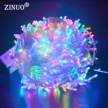 ZINUO 10M 20M 30M 50M 100M LED Fairy String Garland Light AC110V 220V Waterproof Christmas Lights Outdoor For Xmas Wedding Party