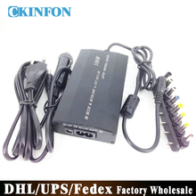 Free DHL Fedex 10PCS Universal Adapter For Laptop In Car DC12-24V Charger Notebook Adapter Power Supply 100W 1A(China)