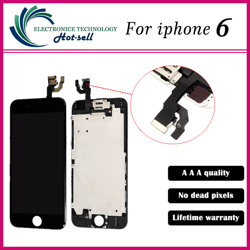 100% Tested One By One AAA Quality Tested For iphone 6 4.7 LCD Display Screen Touch Digitizer Assembly White black<br><br>Aliexpress
