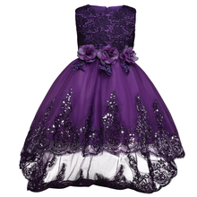 Kids Girls Party Wear Children Lace Princess Flower Girl Wedding Dress Teenage Girl Prom Gown 8 10 12 Year Christmas Fancy Dress(China)