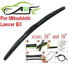 "Free shipping car wiper blade for Mitsubishi Lancer EX Size 24"" 18"" Soft Rubber WindShield Wiper Blade 2pcs/pair"