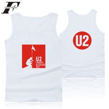 LUCKYFRIDAYF Rocky Band U2 Summer Vest Tank Top Men Bodybuilding And U2 Team Logo Exercise Workout Tank Tops Men Clothes 4XL