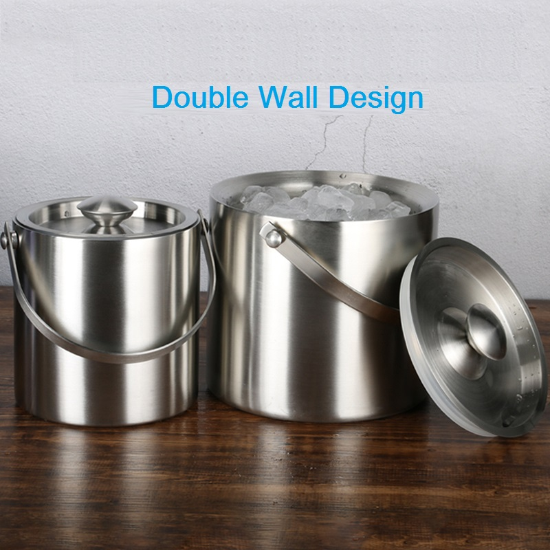 double wall ice bucket chiller