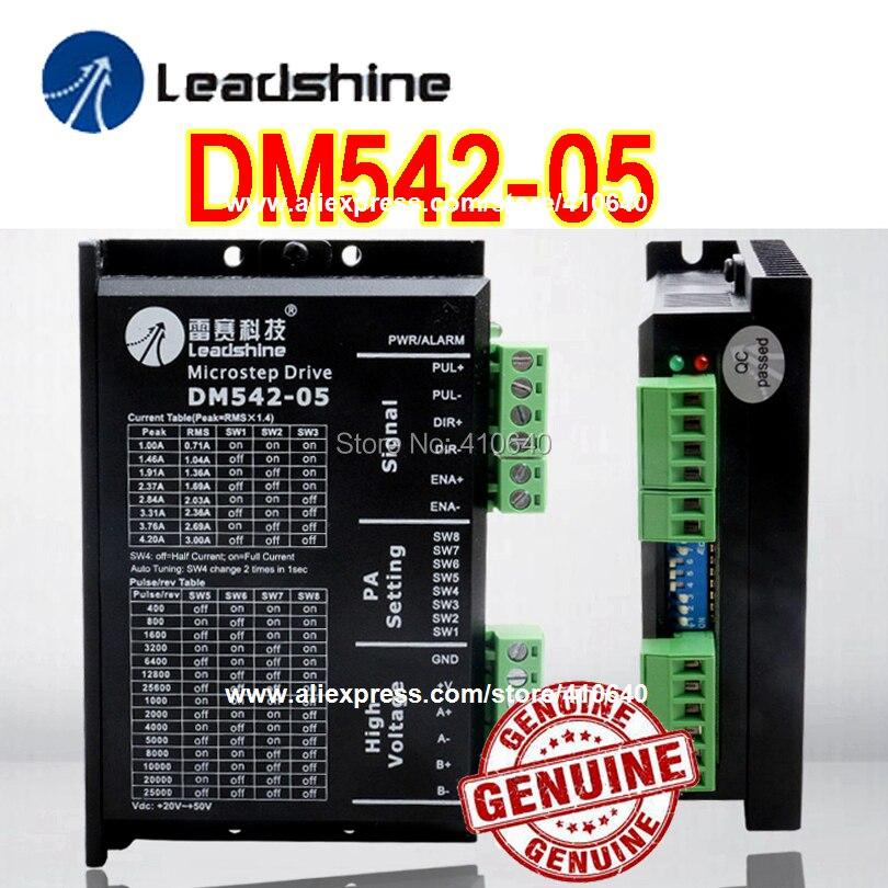 3 Pieces per lot Leadshine DM542-05 1A - 4.2A 20-50VDC for Nema 17 Nema 23 42 57 Stepper Motor 25000 Pulse per rev Free Shipping<br>