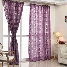 Brand design ready curtain kitchen curtains made geometric living fabric Modern green room treatments new window