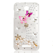 New Arrivals Rhinestone Case For HTC Desire 601/10 pro/10 EVO/U Play Alpine hard Ultra thin Transparent 3D Diamond Phone Bag