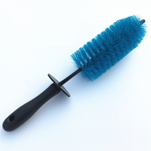 36CM Premium Steel Wire Car Tire Wheel Wash Brush Cleaning Rim Hub Vehicle Washing Tools Rubber Ring(China)