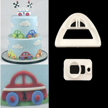 2PC/SET Cars Shape Cutter Plastic Cake Decorating Mold Sugarcraft Mold Cookie Cutting P071