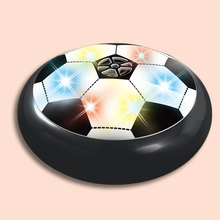 Free Shipping LED Light Air Power Soccer Football Glide Disk Float Disc Fun Kids Toys(China)