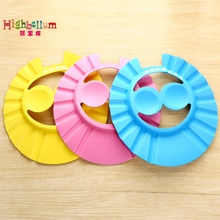 Soft Baby Children Shampoo Bath Shower Cap Shampooing For Kids Head To Baby Shower Hat Child Bathing Cap Bath Visor Adjustable
