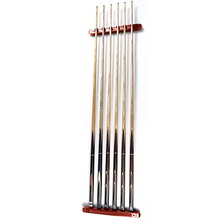 1 Pair  Billiard Cue Stick Rack Holder Wall Mount for Snooker Ball Arm 6 Cues Holder Burgundy Billiard Accessories