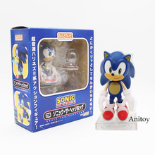 "Retail Wholesale 4"" Sonic the Hedgehog Vivid Nendoroid Series Boxed PVC Action Figure Collection Model Toy #214"