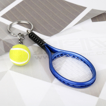 HANCHANG Jewelry Tennis racket Keychain Keyrings Tennis Balls Women Men Car Schoolbag Keychain Birthday Christmas Kids Cool Gift