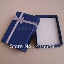 Free Shipping Wholesale  8*11*2.5cm Dark blue  Jewelry Sets  Necklace Earrings Ring  Packaging Box