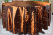 Copper Color Taffeta Tablecloth For Wedding Event&Party&Hotel&Banqet Supplies/Decoration(Chair Cover&Band&Backdrop&Napkins)(China)