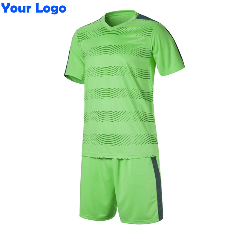2017 New Kids Team Soccer Short Jersey Set Blank Survetement Football Uniforms Kit Running Training Tracksuit Design(China)