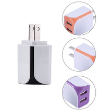 USB Charger Standard 5V 1A US Double USB Charger For Tablet PC Camera PSP Mp3 Mp4 for Android phone For Sumsung For Iphone/pad