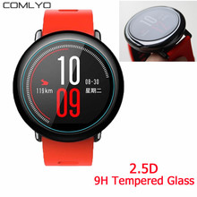 5PCS/LOT Premium 9H Tempered Glass Skin Film Guard for Xiaomi Huami Amazfit Watch Screen Protector Sports activity tracker band