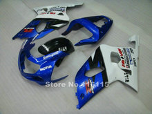 Perfect fit for SUZUKI Fairing kit GSXR600 GSXR750 K1 2001-2003 black blue white fairings set GSXR 600 750 01 02 03 BF56