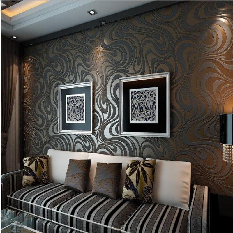 Beibehang 3D Wallpaper Damascus Decorative Modern Curve Simple Wallpaper KTV Bar Living Room Bedroom Wallpaper for walls 3 d<br>