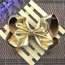 10pcs Free shipping Copper Extra Large Faux Leather Bow(China)