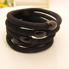 Buy 30Pcs Hair Rope Women Bean Black Elastic Ring Elastic Hair Bands Rubber Gum Hair Accessories Hairband Girl Ties Scrunchy for $1.69 in AliExpress store