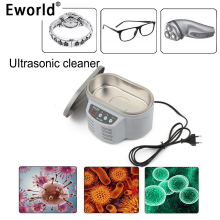 Eworld Hot Sale 30/50W Mini Smart Ultrasonic Cleaner Bath for Jewelry Glasses Circuit Board Cleaning Machine Intelligent Control