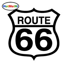 HotMeiNi Wholesale 50pcs/lot Route 66 Line Smooth The Way Car Stickers for SUV Bumper Laptop Cut Vinyl Decal Good Life of Peace