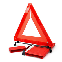 42x8cm Red Foldable High Reflective Warning Triangle Tripod Road Highway Emergency Parking Security Sign 4S Store Car Accessory