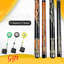 21 oz Pool Cue 11.5mm/12.75mm Tips Black /Orange Colors With Chalk Holder As Gift China 2016