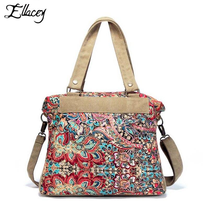 Ethnic style Printing Women Shoulder Bag Bohemian style Women Printing Tote Bag Women Shopping Handbags Large Shopper Tote Bag<br>