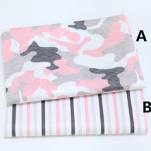 160cm*50cm camouflage cartoon cotton fabric baby cloth kids bedding home textile quilting patchwork pillow curtain tissue cloth(China)