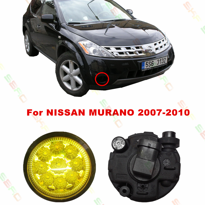 For NISSAN MURANO  2007/08/09/10  car styling led fog lights   12V  2 PCS   Refit Yellow FOG LAMPS DRL<br><br>Aliexpress