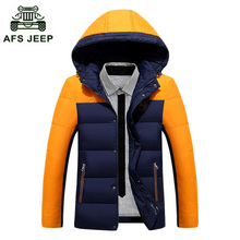 Free shipping Men Down Coat Winter Warm Jacket New Casual Coat Duck Down Hooded Overcoat Warm Winter Jacket Men Parka 100hfx1