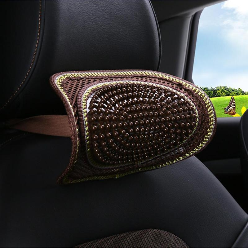 Beautiful design Wooden Massage Car Head Rest Neck Pillow