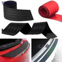 pretty Car SUV Rear Trunk Sill Plate Bumper Guard Protector Rubber Pad Cover or29