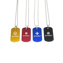 4 Classes Battlefield BF 1 logo Necklaces Hot Video Game Dog Tag Red Black Blue Yellow Pendant Jewelry for women and men Fans(China)