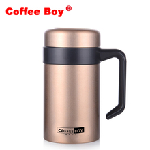 Coffee Boy Vacuum Flasks with Handgrip 400ml thermocup Office Thermoses For Tea stainless steel insulated cup thermo mug thermos(China)