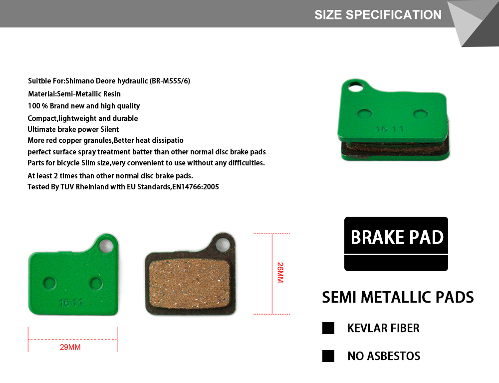 Shimano Deore Disc Pad Set Semi Metallic BR-M555 Lot Set