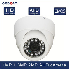 CCDCAM Free shipping 1 MP 1.3 MP 2Magepixel CCTV AHD Plastic Dome Camera for CCTV  system