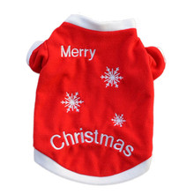 Merry Christmas Pet Cat Puppy Autumn clothes shirt Winter Warm Pullover Embroidered outfit coat Xmas apparel for kitty dogs(China)