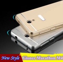 Free Shipping Colourful Alunminum Hard PC Metal Frame Rim Bounding Box for Gionee Marathon M4 Mobile Phone Back Cover Shell Case