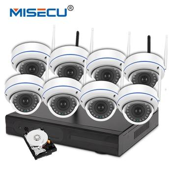 Misecu 960 p 8ch wifi vga/hdmi kit plug & play vandalproof tầm nhìn ban đêm 4 TB HDD Không Dây nvr Eseenet APP P2P WIFI IP Camera hệ thống