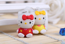 Lovely Cute pen drive cartoon hello kitty cat 8gb 16gb 32gb 64gb usb flash drive kitty USB2.0 flash memory stick pendrive