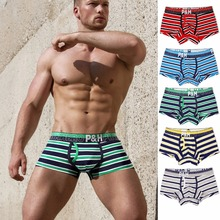 Buy COOL!Pink Heroes High quality Cotton Men underwear Men Boxer Shorts Classic Striped Men Panties Fashion Sexy Male Boxer