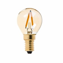 Gold Tint,1W,G40 Globe Light Bulb,Edison LED Filament Lamp,Super Warm 2200K,E12 E14 Base,110V 220VAC,Dimmable
