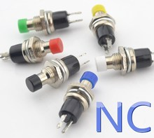 6pcs 7mm normally close NC Momentary Push button Switch reset switch Momentary On Off Push Button Micro Switch
