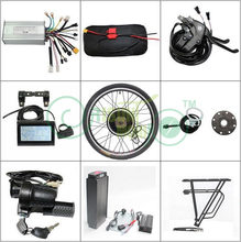 "Free US Shipping 48V 20AH Rear Carrier Battery 5A Charger+1000w 26"" Ebike Motor Wheel+Controller+PAS+LCD+Brake Lever+Throttle"